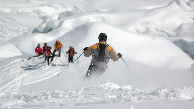 Descente de la Vallée Blanche à ski-1