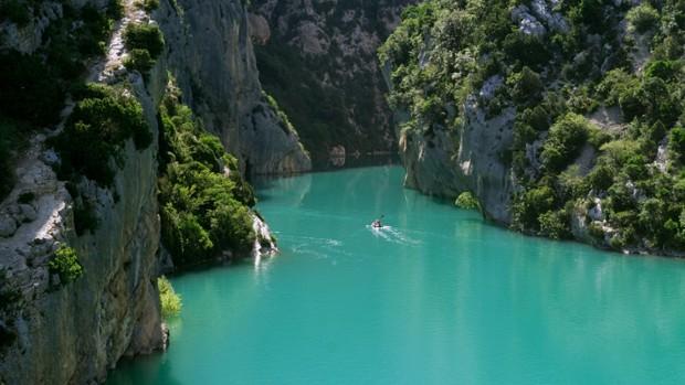 Verdon à la nage par le canyon de la Ferné-3